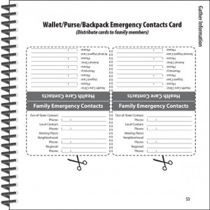 Emergency Response Kit Guide - Sample Contact Page